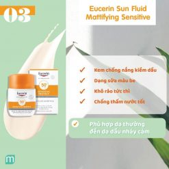 Kem Chống Nắng Eucerin Sun Fluid Mattifying SPF 50+ 50ml có tốt không