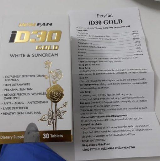 viên uống chống nắng id30 gold