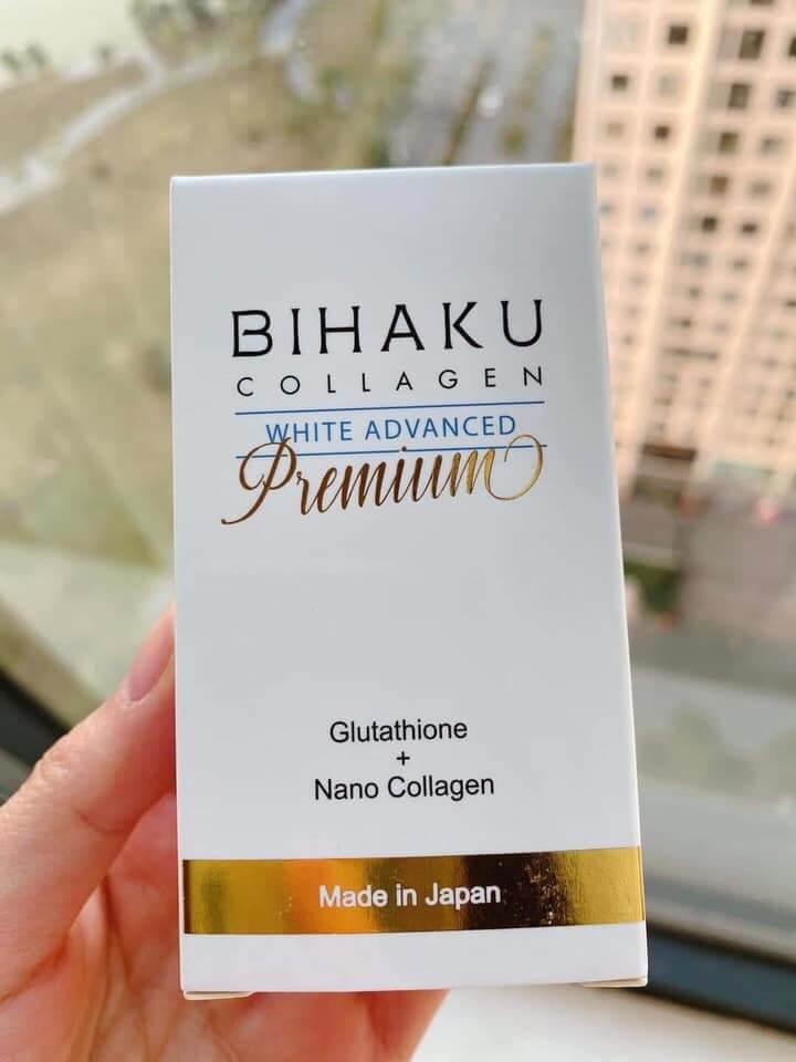 viên uống trắng da bihaku collagen giá bao nhiêu mua o dau chinh hang