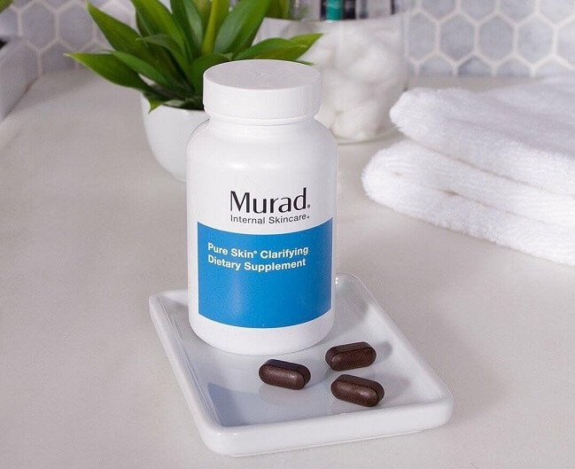 viên uống trị mụn murad pure skin clarifying dietary supplement mẫu mới