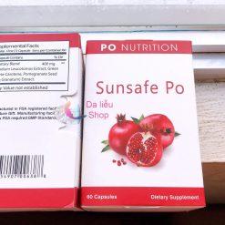 Viên uống chống nắng Sunsafe Po mua ở đâu chính hãng