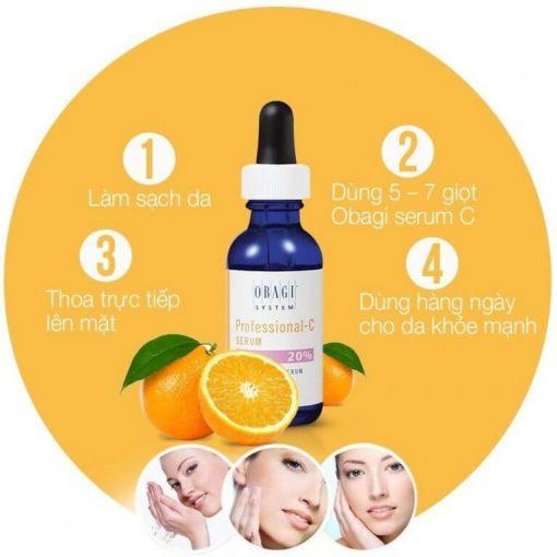 cách sử dụng serum vitamin c obagi