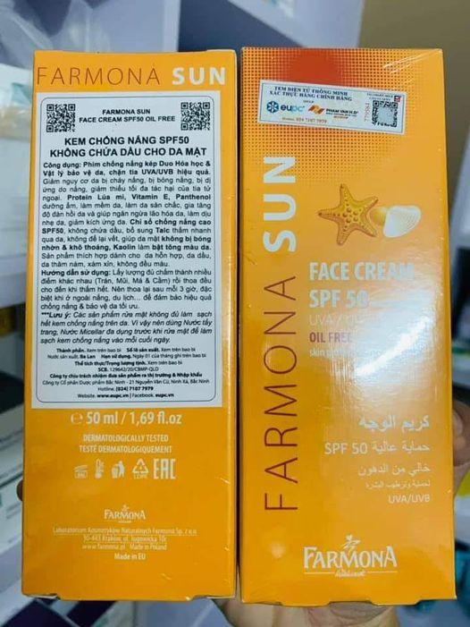 Kem chống nắng Farmona giá bao nhiêu Mua ở đâu chính hãng
