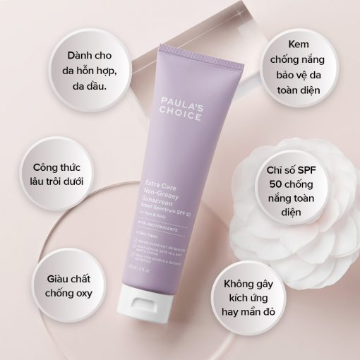 Kem chống nắng Paula's Choice Extra Care Non-Greasy Sunscreen SPF 50+