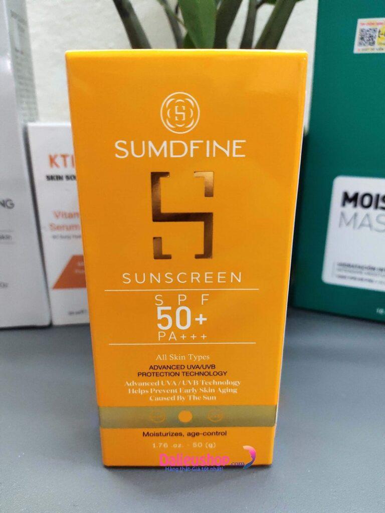 Kem chống nắng Sumdfine Sunscreen SPF 50+, PA +++ giá bao nhiêu