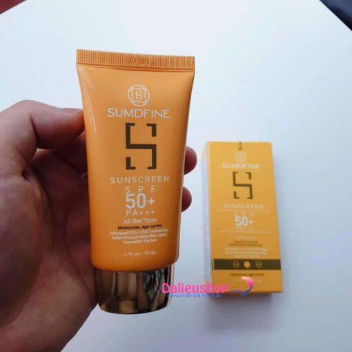 Kem chống nắng Sumdfine Sunscreen SPF 50+ chính hãng