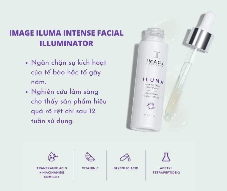 iluma intense facial illuminator – serum sáng da hỗ trợ mờ thâm nám cấp tốc