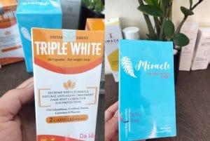 so sanh vien uong triple white va miracle