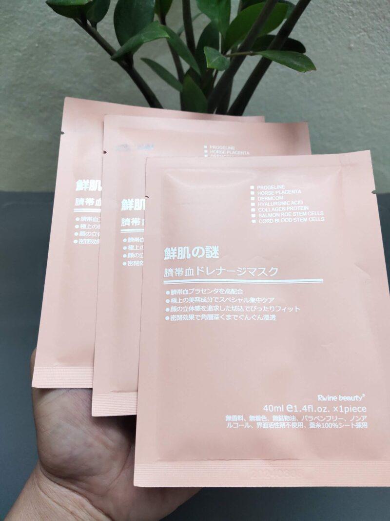 Mặt Nạ Nhau Thai Rwine Beauty Steam Cell Placenta Mask Nhật Bản