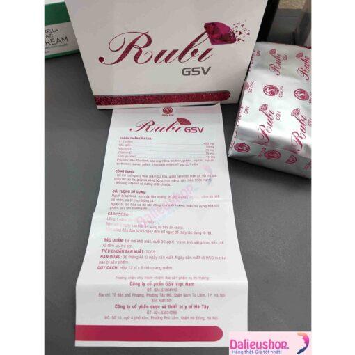 giá thuốc rubi gsv