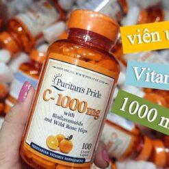 vitamin c 1000mg puritan's pride 100 viên
