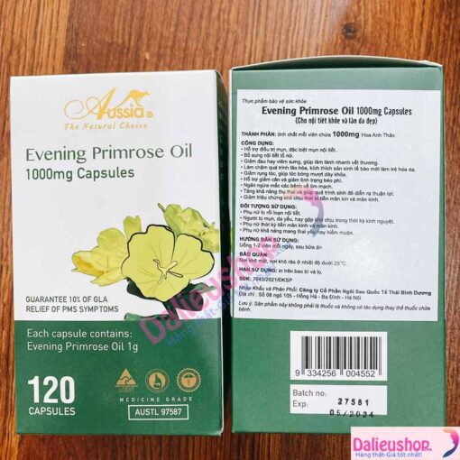 Tinh Dầu Hoa Anh Thảo Evening Primrose Oil 1000mg Capsules Anesia